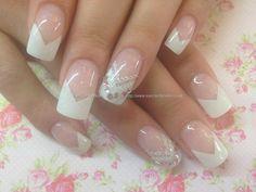 Gel Nails White Tips: j