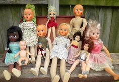 VIntage dolls of all sorts.  monkeybox