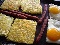 Entre Barrancos (COCINA): Huevos Tostadas, Chorizo, Huevos Fritos, Eggs, Breakfast, Food, Gastronomia, Cooking, Essen