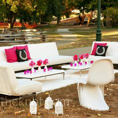 Modern Wedding Lounge Area