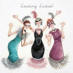 "Cards ""Leading Ladies""- Berni Parker Designs ღ✟ Art Impressions, Stencil Painting, Best Friends Forever, Funny Cards, Cool Cards, Old Women, Illustrators, Cute Pictures, Decoupage"