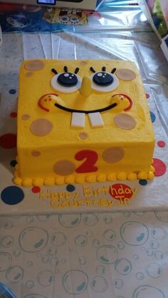 Spongebob Birthday Cake for my baby boy