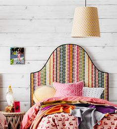 Heatherly Design Bedheads and Anna Spiro Textiles. Anna Spiro, Bohemian Chic Home, Boudoir, Upholstered Chairs, Upholstered Bedheads, Velvet Cushions, Headboards For Beds, How To Make Bed, Home Bedroom