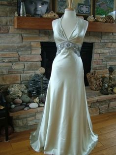 9a68cc2c72086 Wedding dress vintage inspired bridal gown reception evening dress red  carpet gown--- so Nora Charles!