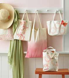 Tote bag ideas from Martha Stewart crafts...