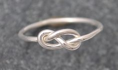 Infinity Knot Ring Infinity Ring knot ring by EmilyFerrisJewellery