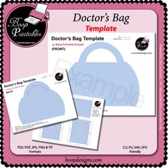 Popcorn wrapper template by boop printable designs digital party doctors bag template by boop printable designs pronofoot35fo Choice Image