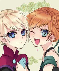 Anime Anna and Elsa