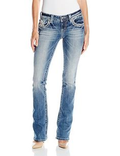 Miss Me Women's Crochet Cross Boot Cut Jean Boot cut denim jean with back pocket crochet cross design and stud detailsFeaturing logo hardware detailUnique whisker wash detailing  7 for all mankind, adriana goldschmied, Bootcut, Cigarette, Denim, dl1961, Hollister, Hudson, hudson jeans, j brand, jeans, Jeggings, levi, miss me jeans, paige denim, paige jeans, river island, Skinny, super skinny, Superdry, true religion