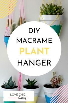 Home Decor Entryway An easy tutorial on how to make your own DIY macram plant hanger. A simple patte Home Decor Signs, Home Decor Styles, Cheap Home Decor, Succulent Planter Diy, Succulents Diy, Diy Planters, Terracotta Pots, Decorating Small Spaces, House Colors