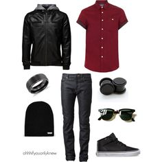 Untitled #234 by ohhhifyouonlyknew on Polyvore featuring Neff, Jack & Jones, Topman, Yves Saint Laurent, Blue Nile and Ray-Ban