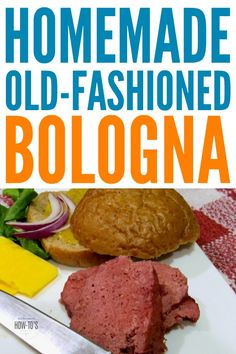 Old-Fashioned Homemade Bologna - This isn't the greasy pink stuff you've seen in the store! One taste of this rich and beefy homemade bologna and you'll know why Grandpa loved it so much. Homemade Bologna Recipe, Bologna Recipes, Homemade Sausage Recipes, Meat Recipes, Cooking Recipes, Homemade Sandwich, Venison Recipes, How To Make Sausage, Bologna