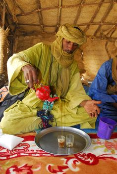 Tea, Moroccan style. This is in the south of Morocco, down in the Sahara.