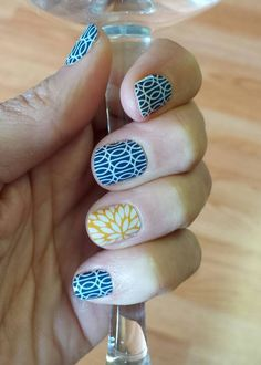 One of my FAVORITE Jamicures! Mad Mod with Sunny Lotus - http://marisawildrick.jamberrynails.net
