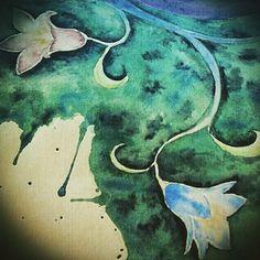 #artsy #sketch #sketchbook #watercolors #ink #instaart #instaflowers #flowerstagram #flowers #blue #violet #fantasy