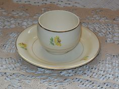 Homer Laughlin China Eggshell Cup and  by Daysgonebytreasures, $12.00