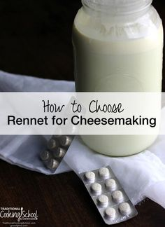 Rennet is an essential ingredient in most cheesemaking. Here are several factors to keep in mind when choosing rennet for your cheesemaking. Goat Milk Recipes, No Dairy Recipes, Cheese Recipes, Fromage Vegan, Fromage Cheese, Goat Cheese, Rennet Cheese, How To Make Cheese, Food To Make