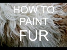 How to paint FUR Acrylic tutorial #bigartquest #18 - YouTube