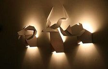 I love the light and shadow of these lamps.  They're so playful done as animal heads