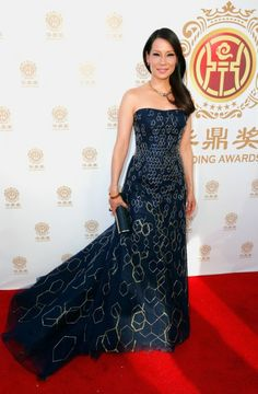 lucy liu, you are a glamorous couture honeycomb of chemistry