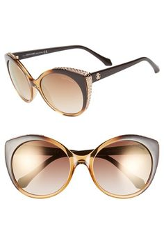 Roberto Cavalli 56mm Cat Eye Sunglasses available at #Nordstrom