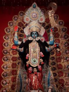 New Year Make a Great Start by Achieving Abundant Wealth, Health & Prosperity Indian Goddess Kali, Goddess Art, Mother Kali, Divine Mother, Durga Ji, Hindu Worship, Devon Ke Dev Mahadev, Kali Mata, Bhagavata Purana