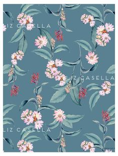 2-lc52478-r-f-obj-db Flower Wall, Flower Prints, Patterns In Nature, Print Patterns, Textile Prints, Textiles, Pattern Illustration, Botanical Illustration, Surface Art