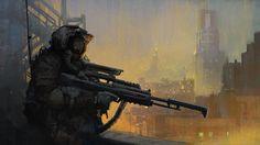 sniper, Mathias Zamęcki on ArtStation at http://www.artstation.com/artwork/sniper-dccea70b-f68f-4f81-8d16-adbbe588d472