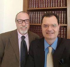 On Fabio Porta deputato Pd eletto in Sud America, con il nostro direttore Umberto Calabrese in una recente foto