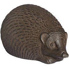 RUSTIC BROWN LARGE HEDGEHOG CAST IRON ORNAMENT