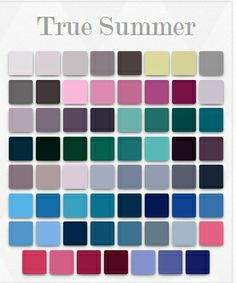 True / cool summer colour palette.                                                                                                                                                                                 More