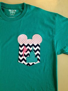Disney Castle Tinkerbell Mickey Pocket Tee Real by psBlessed, $28.00