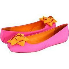 #orange and pink flats