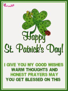 Happy Patricks Day Wishes Image Card