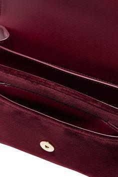 Burgundy Sunset small velvet shoulder bag | SAINT LAURENT | NET-A-PORTER Wolford Tights, Saint Laurent Dress, Aldo Boots, Small Cards, You Bag, Continental Wallet, Dust Bag, Saints, Burgundy