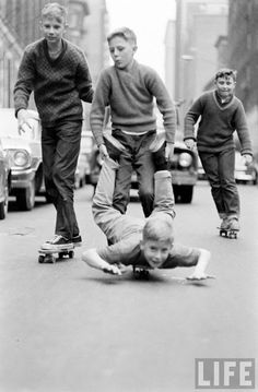 1960s - Skateboarding boys in New York - (LIFE magazine). Smooth Asphalt. #materialmatters