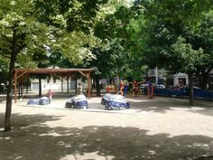 Hřiště před školou Tusarova Four Square, Street View, Park, Parks