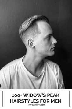 If you have both a receding hairline and a widow's peak, this modern undercut with super short sides creates the impression of a fuller mane. It requires minimal styling to stay slicked on the back. #menwindospeak #menrecedinghairline #baldingmen #menundercut #menhairstyles #manhaircuts Haircuts For Receding Hairline, Receding Hair Styles, Modern Undercut, Undercut Men, Widows Peak Hairstyles, Side Fade, High Fade Haircut, Widow's Peak, Hair Pomade