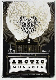 Arctic Monkeys Poster, by Telegramme Studios. Tour Posters, Band Posters, Music Posters, Festival Posters, Concert Posters, Gig Poster, Poster Wall, Rock & Pop, Rock And Roll