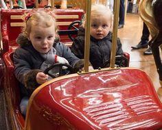 Princess Gabriella, Prince Jacques. December 2016.  The twins of Prince Albert and Princess Charlene of Monaco.