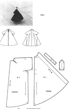 vintage/1951***simple/elegant. note one piece sleeve; fullness could be changed by minimizing angle cut of back!! s-c