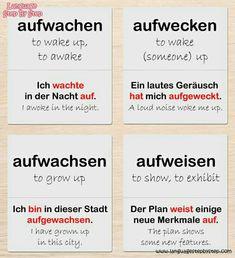German Grammar, Learn English Grammar, German Words, Study German, Learn German, Learn French, German Resources, Learning Languages Tips, Deutsch Language