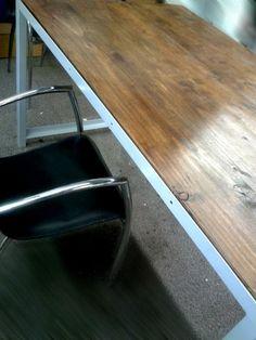 Industrial vintage pine table