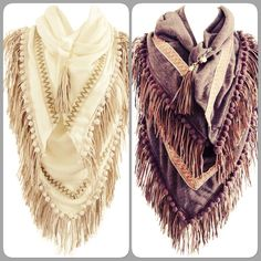 Fancy fall scarfs....