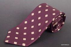 KITON Napoli Hand-Made Seven Fold Purple Silk Tie NEW
