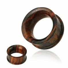 "Organic Sono Wood Concave Double Flat Flared Tunnel Plugs - 1/2"" - 12mm - Sold as a Pair WickedBodyJewelz - Organic Plugs. $7.85"