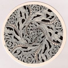 Congratulations and thank you to the Diva, Laura Harms, on reaching her 100th Zentangle® Diva challenge . Her blog is inspirational, humoro...