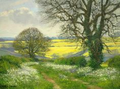 Peter Barker Paintings - May Crops