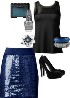 """""""Silver & Navy"""" by meeshandmia on Polyvore"""
