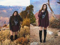 Alexandra Ford - Vevelle Silk Scarf - Grand Canyon